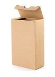 Cardboard box  on white background Royalty Free Stock Photo