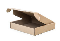 Cardboard box on white Royalty Free Stock Photography