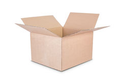Cardboard box on white background. Stock Photography