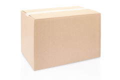 Cardboard box closed with tape Royalty Free Stock Photos