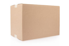 Blank cardboard box. Cardboard box on white, clipping path included Stock Photo