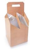 Cardboard box for wine Royalty Free Stock Photos