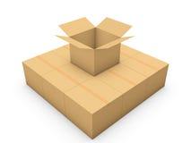 Cardboard boxe Royalty Free Stock Photo