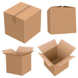 Cardboard boxes. Isolated on white Royalty Free Stock Photos