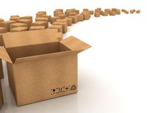 Cardboard boxes. On white background vector illustration