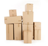 Cardboard Boxes. On White background Royalty Free Stock Image