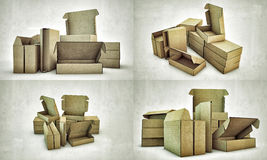 Cardboard boxes Royalty Free Stock Image