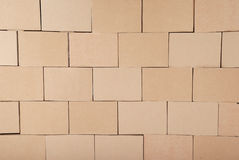 Cardboard boxes background. Brown color Stock Image