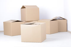 Cardboard boxes Stock Photography
