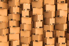 Cardboard boxes. Cargo, delivery and transportation logistics storage Stock Images