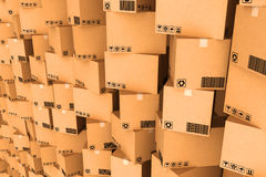 Cardboard boxes. Stock Photo