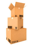 Cardboard boxes. Stock Photos