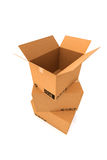 Cardboard boxes. Royalty Free Stock Photos