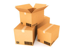 Cardboard boxes. Royalty Free Stock Photography
