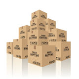 Cardboard boxes Stock Images