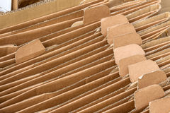 Cardboard boxes for the collection of waste paper Royalty Free Stock Photos