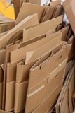Cardboard boxes for the collection of waste paper Royalty Free Stock Image