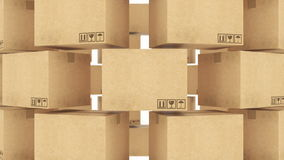Cardboard boxes. stock footage