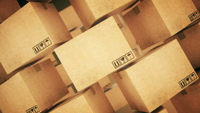 Cardboard boxes. stock video footage
