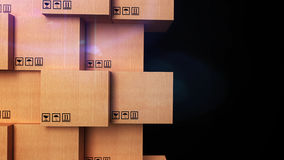 Cardboard boxes with copyspace. 3d stack of cardboard boxes with copyspace Royalty Free Stock Photography
