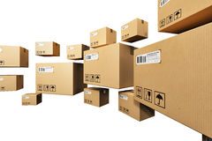 Cardboard boxes Stock Photo