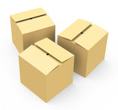 The cardboard boxes Stock Photos