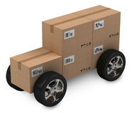 Cardboard boxes, delivery concept Royalty Free Stock Photography