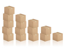 Cardboard boxes diagram Stock Photo