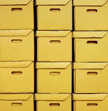 The Cardboard boxes. Distribution warehouse with cardboard boxes that look a mess Royalty Free Stock Image
