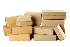 Cardboard boxes Royalty Free Stock Photos