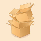 Cardboard boxes icon. Royalty Free Stock Images