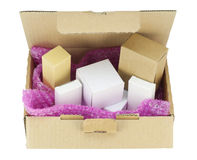 Cardboard boxes  isolated Stock Photography