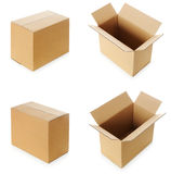 Cardboard boxes | Isolated Royalty Free Stock Images