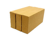 Cardboard boxes isolated on white Stock Images