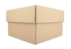 Cardboard boxes isolated on white background Stock Image