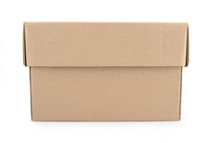 Cardboard boxes isolated on white background Stock Images