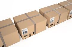 Cardboard boxes. Isolated on white background Stock Image
