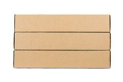 Cardboard boxes isolated on a white background Stock Images