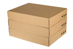 Cardboard boxes isolated on a white background Royalty Free Stock Photos