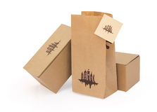 Cardboard boxes, package, card blank Stock Photo