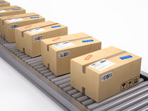 Cardboard boxes package parcels Stock Images