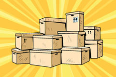 Cardboard boxes for packaging vector illustration