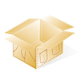 Cardboard boxes for packing jeans Stock Photography