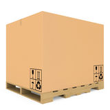 Cardboard boxes on pallet Royalty Free Stock Image