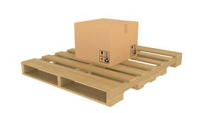 Cardboard boxes on pallet Stock Photos