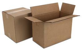 Cardboard Boxes with Path Royalty Free Stock Images