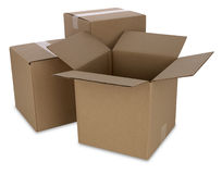 Cardboard Boxes with Path Royalty Free Stock Image