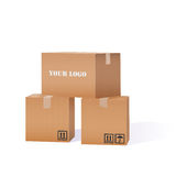 Cardboard Boxes Pile Royalty Free Stock Photography