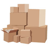 Cardboard boxes Stock Image