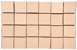 Cardboard boxes. Pyramid from boxes Royalty Free Stock Photography
